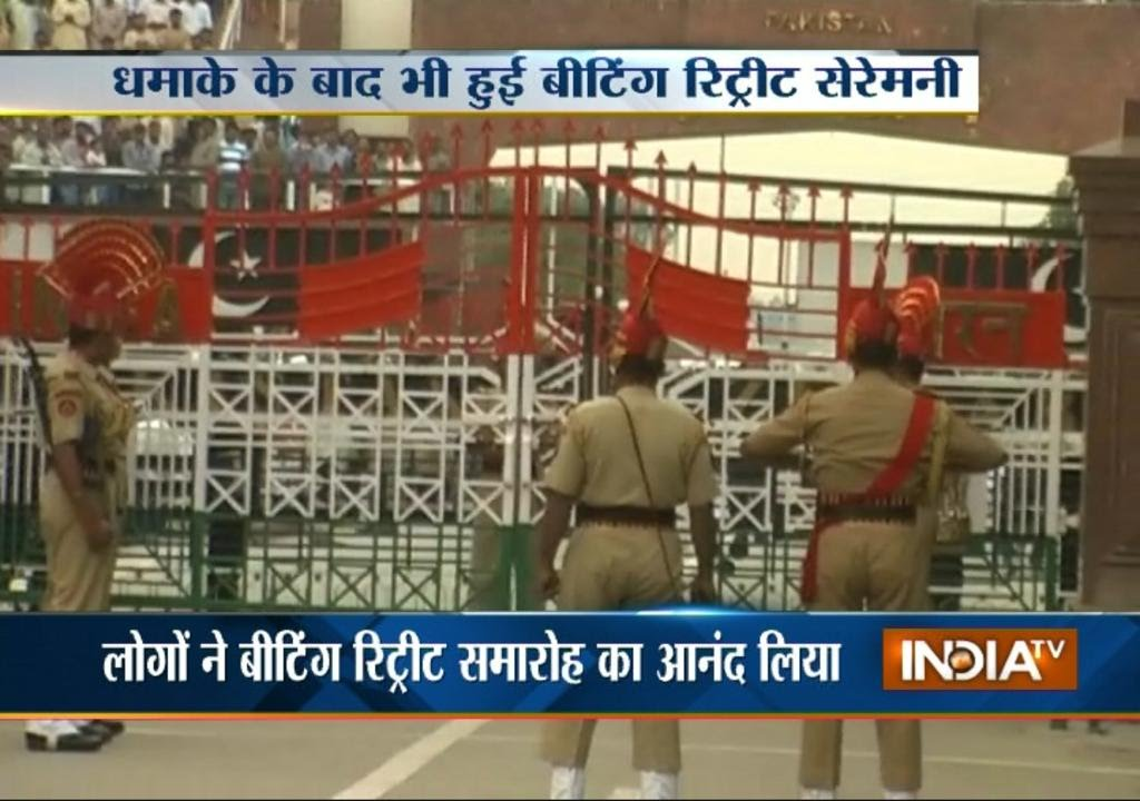 Download Beating Retreat ceremony at Wagah after blast - India TV