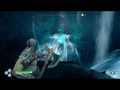God Of War Destroy Red Barrier Around Chest In Cave