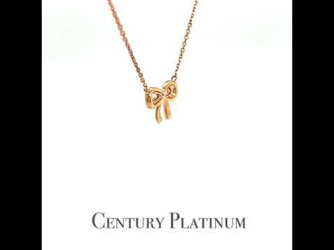 世紀白金 18K金  天然鑽石項鍊 DS7064
