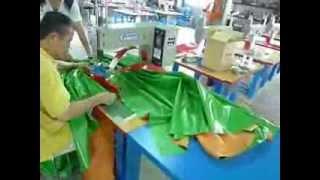 Сварка пленки ПВХ на производстве натяжных потолков