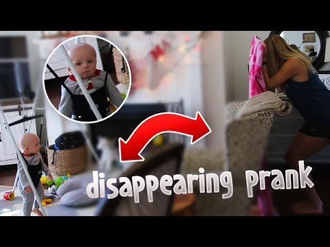 DISAPPEARING PRANK ON MY SON ! (He was shocked!)