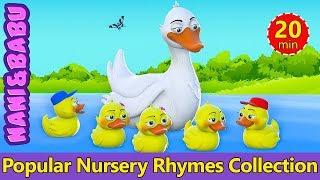 Five Little Ducks | Nursery Rhymes Collection by Nani and Babu | Baby Sleep Songs