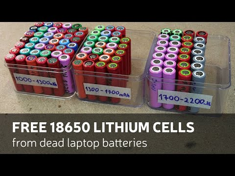 How To Get: Free 18650 Lithium Cells From Dead Laptop Batteries