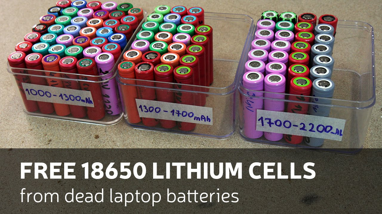 How To Get Free 18650 Lithium Cells From Dead Laptop