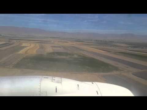 Erzurum Havaalanı Uçak İniş Görüntüsü