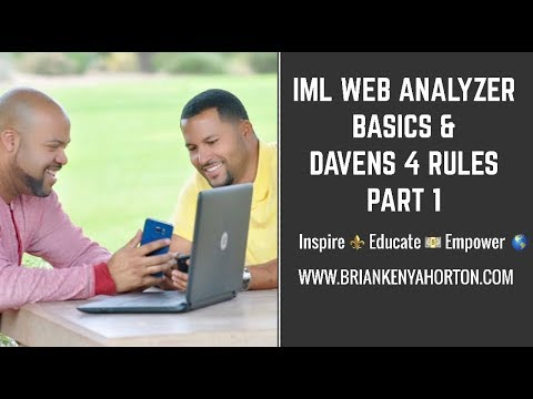 IML Web Analyzer Basics & Daven's 4 Rules Part 1