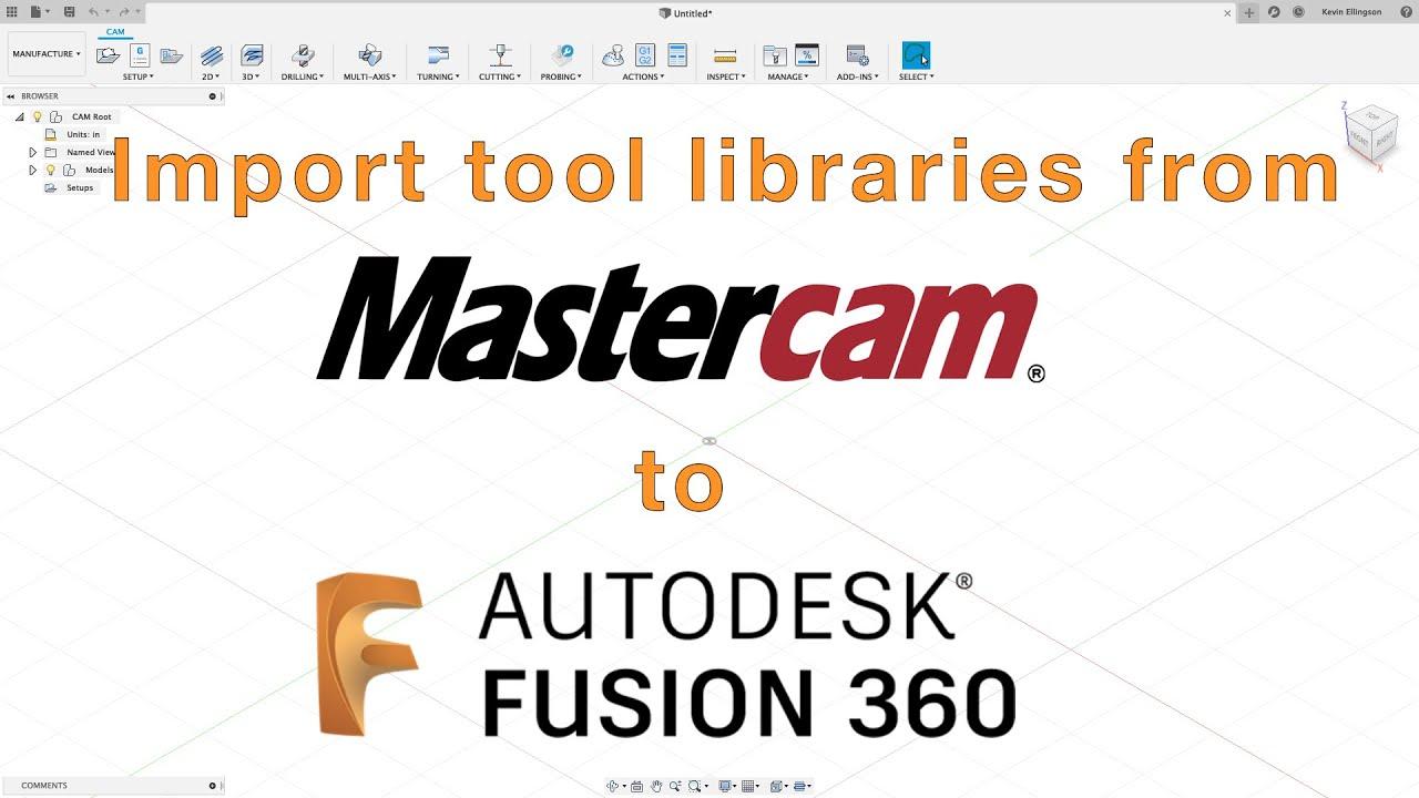 Fusion 360 - Import Mastercam tool libraries