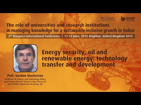 Energy security, oil and renewable energy: technology transfer and development