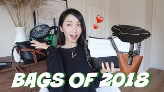 2018 FAVORITES | HANDBAGS TOP 10 包包篇❤️小众品牌包包 | 腰包 | 罗意威Gate |  Céline桶包 | 香奈儿流浪包❤️