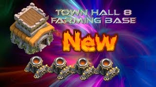 Clash of Clans Town Hall 8 Farming Base (Sky Blaster) After Halloween Update 2014