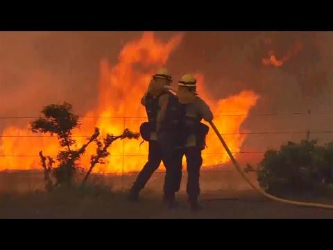 Mendocino Complex Wildfires Still Threaten Thousands of Structures