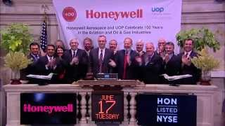 Honeywell Visits the NYSE to Celebrate 100 Years in the Aerospace and Oil Gas Industries