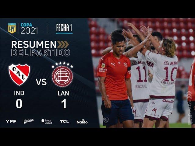 Copa De La Liga   Fecha 1   resumen de Independiente - Lanús