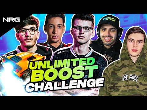 NRG Rocket League Pros Play with Unlimited Boost (Challenge) | musty, jstn, GarrettG, Squishy, Sizz