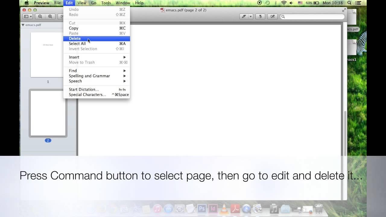 Delete how pdf mac on a to