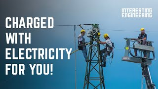 How high voltage AC transmission towers supply our electricity