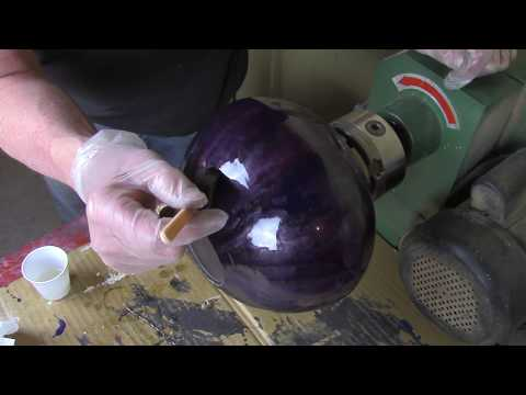 Coating a Painted Urn with Epoxy Resin
