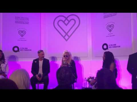 Lady Gaga's Press Conference at 'Love Bravery' Launch Event