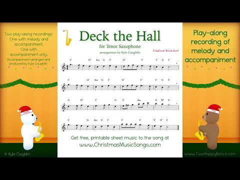 Deck the Halls for tenor saxophone - free sheet music