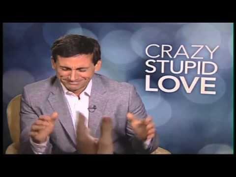 Steve Carell slaps reporter, Ryan Gosling, Julianne Moore, Emma Stone interviews - CRAZY STUPID LOVE