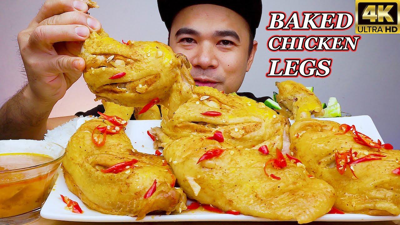 BAKED CHICKEN LEGS | Mukbang Philippines | FILIPINO FOOD | @ALFIE EATS