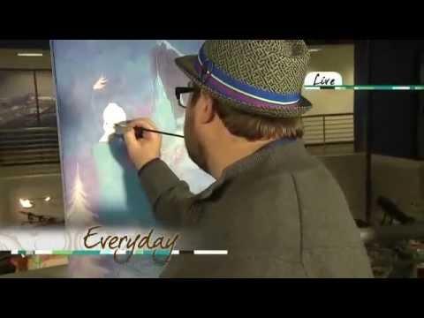 Disney Fine Art - Tim Rogerson - Everyday Show W Chris Parente & Kathy J KDVR Fox Denver