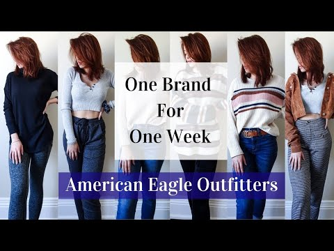 Only Wearing American Eagle For A Week || One Brand Head To Toe Outfits + Mini Jeans Haul