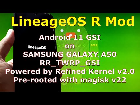 LineageOS R Mod Android 11 for Samsung Galaxy A50 GSI ROM