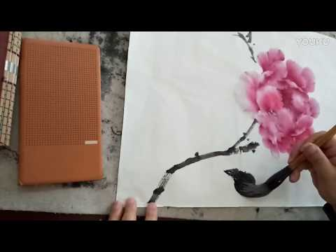 Traditional Chinese painting : Peony Demonstration