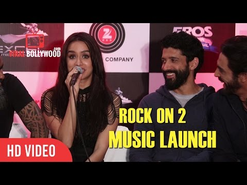 Gorgeous Shraddha Kapoor Speech At Rock On 2 Music Launch | Live Concert