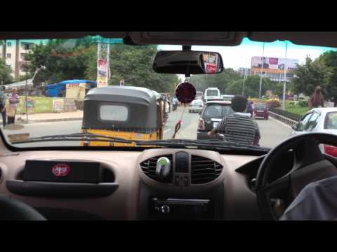 Taxi ride to work in Hyderabad, IN