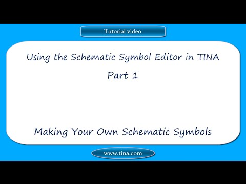 Using The Schematic Symbol Editor In Tina Part 1 Making Your Own