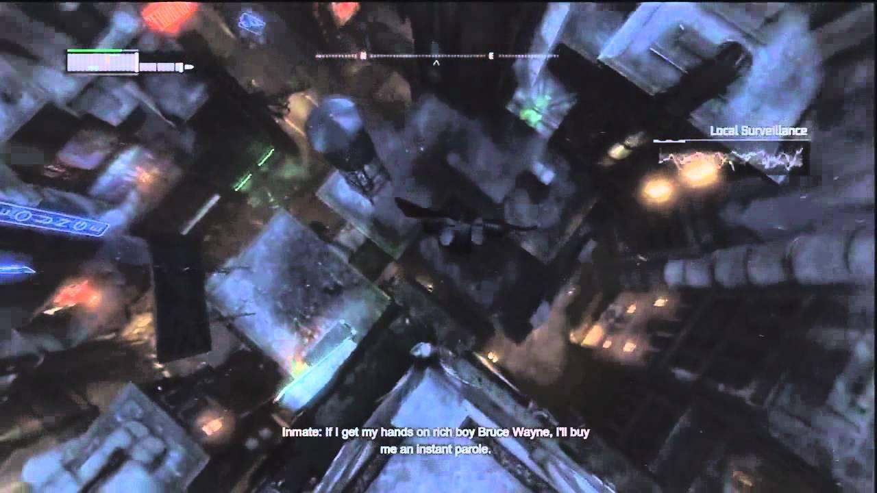 Batman: Arkham City - Gliding Around ( Batman Beyond Skin ...