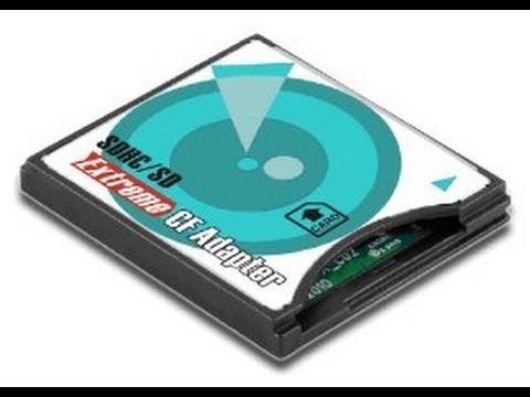 Адаптер переходник флеш карт SD на CF Secure Digital to CompactFlash SD to CF