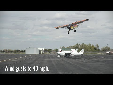 STOL LANDINGS AND TAKEOFFS IN 40 MPH WINDS! Where is Silvija?
