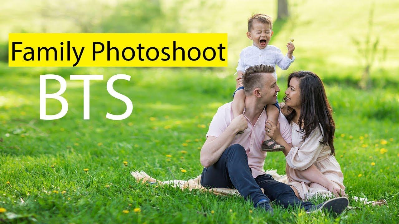 Family Photo Shoot Family Photoshoot Behind The Scenes Youtube