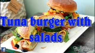Tuna burger with salads Chef Ricardo Cooking (2017) Recipe !!