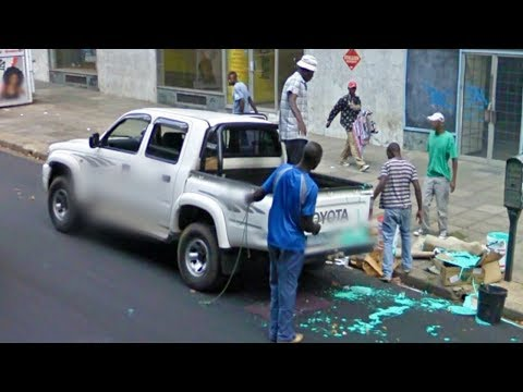 TOP 10 FUNNY & SCARY SOUTH AFRICA - Google Street View