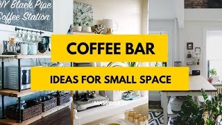 95+ Awesome Coffee Bar Ideas for Small Space