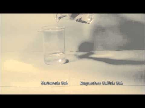 Reaction Of Carbonate Solution With Magnesium Sulfate Solution