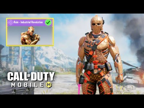 *NEW* FREE RUIN - INDUSTRIAL CHARACTER SKIN GAMEPLAY in CALL OF DUTY MOBILE BATTLE ROYALE!! 60 FPS
