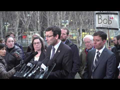 Washington Attorney General Bob Ferguson speaks on Trump immigration ban restraining order