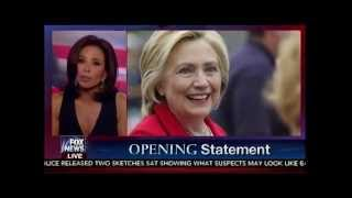 Judge Jeanine Pirro Opening Statement - Hillary Clinton Email Server & Benghazi
