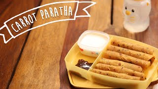Carrot Paratha | Easy Breakfast / Tiffin Recipe | Kiddie's Corner With Anushruti