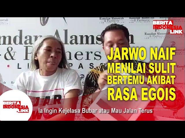 Jarwo Sulit Bertemu Eks Personel Naif