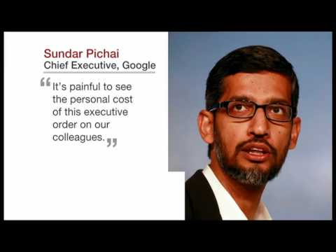 Silicon Valley reacts to Trump immigration ban - BBC News at One - 30th January 2017