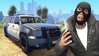 Stealing The Sheriffs Car.. (GTA RP)