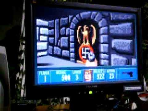 Wolfenstein 3D on 10 MHz 286 computer