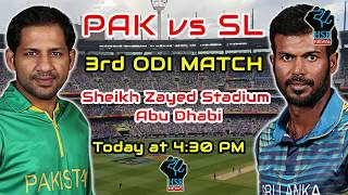 Live Match:Pakistan Vs Sri Lanka 3rd Odi Live, PAK VS SL 3rd Odi Live Cricket Score; PAK WON