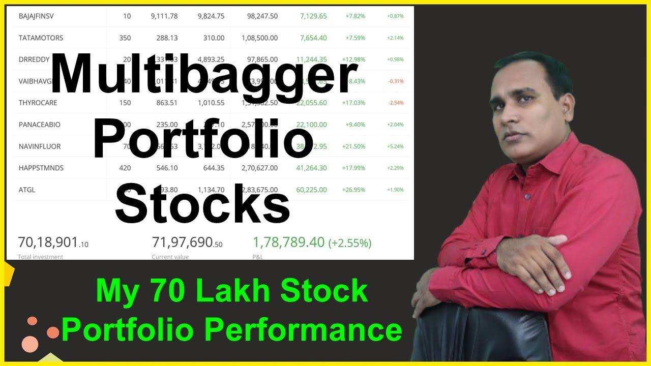 My 70 Lakh Stock Portfolio Performance !! Multibagger Portfolio Stocks